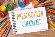 Preschooler Checklist