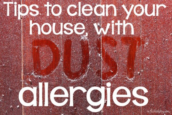 Tips to clean if you suffer from a dust allergy. Original photo by smuay on Fotolia.