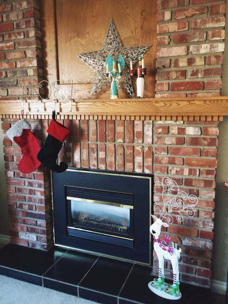 Mantle decorations for the holidays.