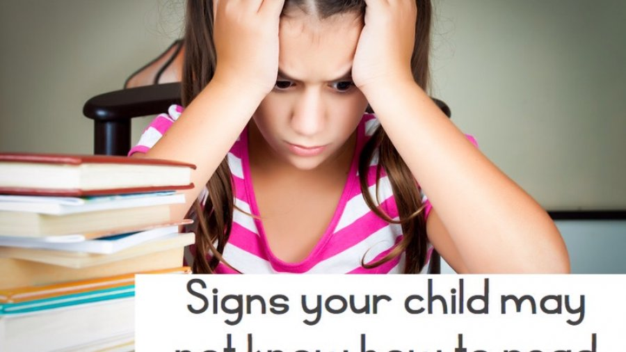 Signs that your child may not know how to read