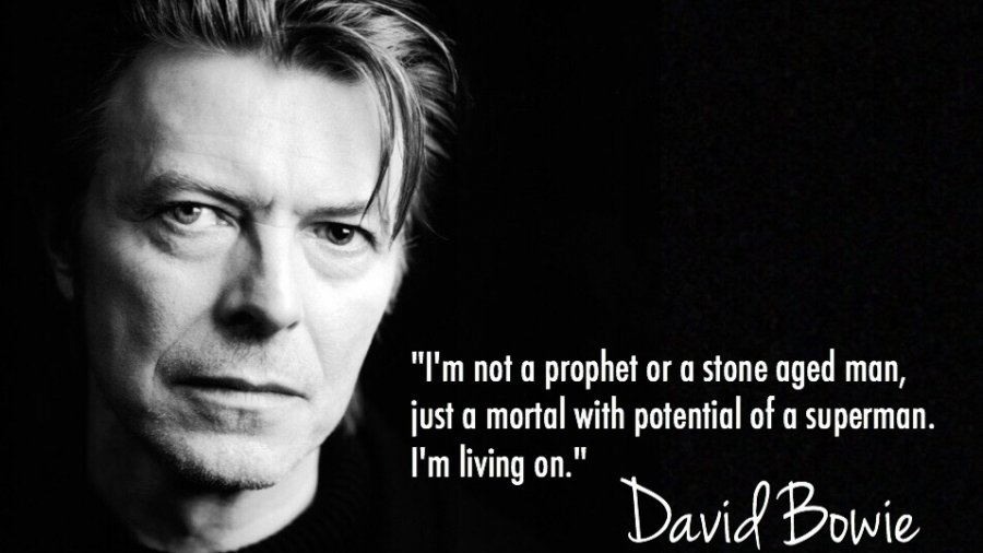 David Bowie quote RIP 1947 - 2016. Original image created by thisbirdsday.com