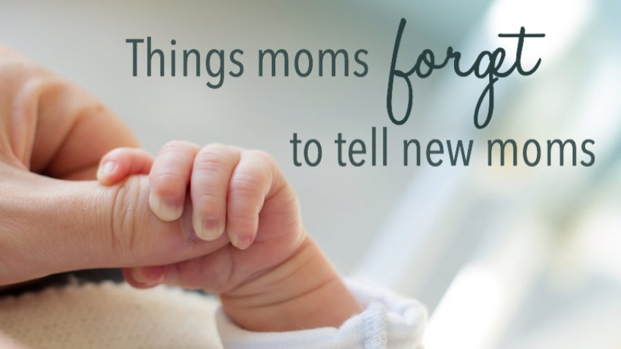 Things moms forget to tell new moms post. Original photo credit tostphoto on fotolia