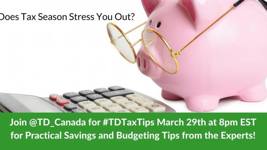 Join @TD_Canada for #TDTaxTips Chat March 29th at 8 pm EST #ad